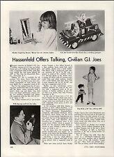 1967 PAPER AD GI Joe Crash Crew Fire Truck Pull Dog Tag Article Hasbro Nurse