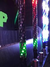 PAIR 2' TWISTED EXTREME DREAM LED LIGHT WHIP ATV UTV SXS RZR CAN AM