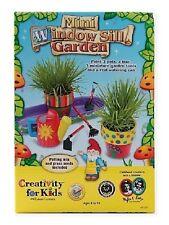 Mini Window Sill Garden Kit w/ Paint, Brush, Ceramic Pots by Creativity For Kids