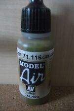 AIRBRUSH PAINT  - AV Vallejo Model Air  17ml Bottle Camouflage Grey Green VAL116