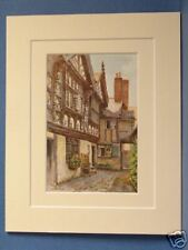 STANLEY PALACE CHESTER VINTAGE DOUBLE MOUNTED HASLEHUST PRINT c1930 10X8 OVERALL