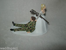 Wedding Reception Party Deer Camo Hunter Redneck Hunting Military Cake Topper