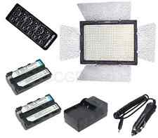 Yongnuo YN-600 5500K Pro LED Video Light photo Lamp w/ DC input +NP-F550 Battery