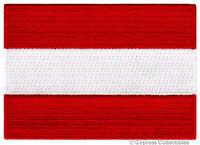 AUSTRIA FLAG embroidered iron-on PATCH AUSTRIAN EMBLEM souvenir applique vienna