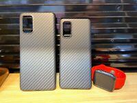 100% Carbon Faser Case Extrem Dünn Hülle f Samsung Note20 Ultra Huawei iPhone SE