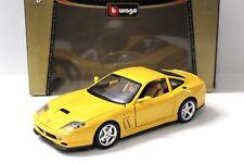 1:18 Bburago Ferrari 550 Maranello 1996 yellow NEW bei PREMIUM-MODELCARS