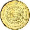 [#782614] Turkey, 10 Euro Cent, 2003, unofficial private coin, MS(63), Brass