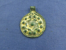 A suspension in the form of a coin in gilding (calendar) kr 9-13 century AD