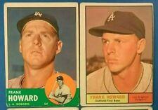 Vintage 1961-63 Topps Old Baseball Cards 2-card Lot *Frank Howard* *Dodgers* Vg
