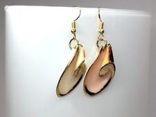 SHELL EARRINGS NATURAL conch shell gold plated blush colour pink gift for her
