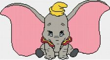 Dumbo 3 Counted Cross Stitch Kit  Disney/Film character