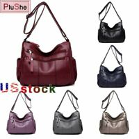 Women soft Leather Handbag Female Crossbody Bags Lady Shoulder Messenger bag US