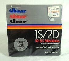 """Memorex (Albinar) 1S/2D 10 Pack 5 1/4"""" Single Side Double Density Floppy Disks"""