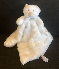 Blankets and Beyond White Teddy Bear Security Blanket Baby Lovey Rosette Swirls