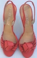 Anne Klein New York Uk7.5 Us9.5 Strappy Leather Coral Sandals Summer Events
