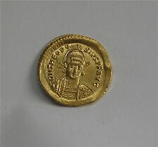 ROMAN GOLD SOLIDUS COIN THEODOSIUS II  402 - 450 AD SUPERB LUSTER DETAIL AU+
