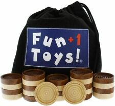 New - Fun+1 Toys! - Classic Wood Checkers w/ 26 Stackable Pieces - Free Shipping