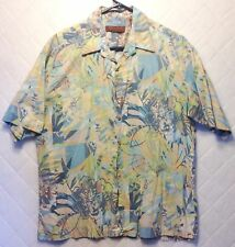 TORI RICHARD Button-Front Shirt Multi-Color Floral Hawaiian Short Sleeve Silk L