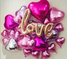 Large Wedding Proposal Engagement Decoration Supplies Love Heart Foil Balloons