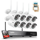 SANNCE HD 1080P CCTV IP Camera Wireless Wifi System 8CH NVR Home Security Kit US