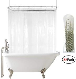 Durable Extra Wide Shower Curtain Shower Curtain Liner Bathroom Curtain Decor JA