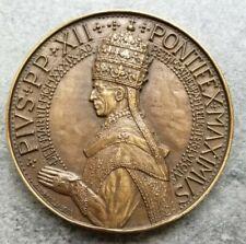 Medaglia Vaticano Pio XII 1939 OPUS PAX IVSTITIAE 162gr 69mm
