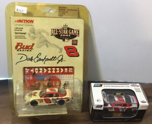 DALE EARNHARDT JR. BUDWEISER MLB ALL-STAR GAME 1:64 SCALE STOCK CAR Lot Of 2