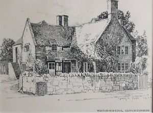 1906 Antique print The Old Post Office, Weston-Sub-Edge, Gloucestershire. 1503