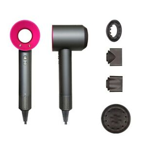 Dyson Supersonic ORIGINAL Hair Dryer with Attachments - Iron & Fuchsia Brand new