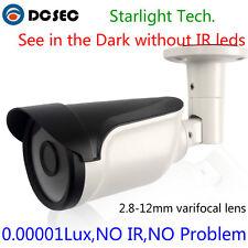 Analog Sony 700TVL Bullet CCTV Camera Low Light Varifocal Zoom lens Rain Cover
