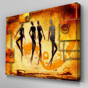 AB533 African Tribal Abstract Canvas Wall Art Ready to Hang Picture Print