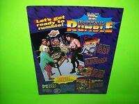 Data East ROYAL RUMBLE Original 1994 Flipper Game Pinball Machine Promo Flyer