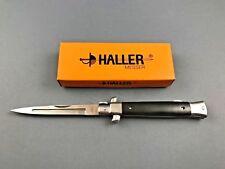 Haller Stiletto Taschenmesser Ebony Messer - Griffbeschalung aus Ebenholz
