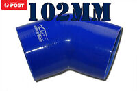 "4PLY Silicone 45 Degree Elbow Joiner Turbo Hose BOV Pipe 102mm 4"" Blue"