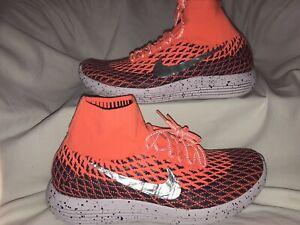 Nike LunarEpic Flyknit Orange 849665-800 Repel Cushion Running Shoes Women's 10