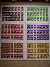 Briefmarken Bogenware 6 Stück Pferdesport Olympia Moskau 1980 Pferde Sport