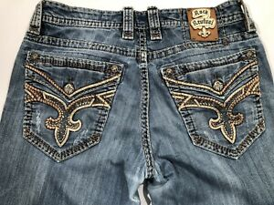 Rock Revival MENS 33x32 GORE RELAXED STRAIGHT DISTRESSED