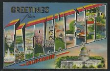 "Large Letter Postcard - ""Greetings from Sacramento, California - Unused"