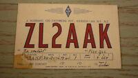 OLD HAM QSL RADIO CARD, 1952 KHANDALLAH NEW ZEALAND, ZL2AAK 1