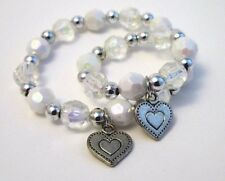 """Matching bracelets girl and 18"""" doll accessory jewelry accessory heart charm"""