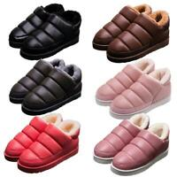 New Womens Winter Warm Snow Waterproof Pull on Ankle Boots Flat Winter Shoes