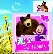 Mascha und der Bär Masha Kissenbezug für Kissen 40x40cm Bettbezug Kinder Disney
