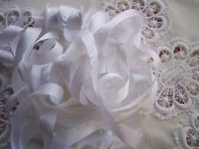 "100% PURE SILK  RIBBON  WHITE 1/2"" [13MM] 10 YRD SPOOL"