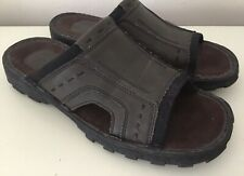 Mens Skechers Slip On Sandals ~ Mules ~ Brown ~ Size 8 UK