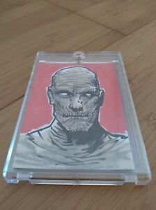 Bam! Universal Monsters Mummy Hand Drawn Sketch Card 1/1 Signed by Shawn Langley
