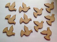 10 x artigianale in legno forme colombe