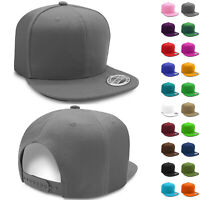 Solid Snapback Hats for Wholesale Flat Brim Baseball Caps Lot Cheap Mens Hat