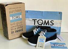 NEW! TOMS BLUE BLACK BLOCK BOOTS SHOES YOUTH SIZE 6 EUR 39 SALE