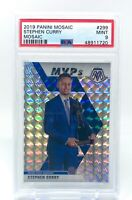 Stephen Curry 2019-20 Panini Mosaic Silver Prizm MVP PSA 9 #299 Warriors Steph
