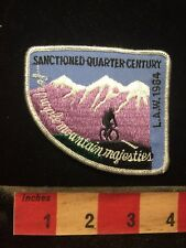 Vtg Law 1984 Quarter Century Ride Bicycle Patch Purple Mountain Majesties 70H